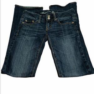 American eagle artist blue jeans size 00